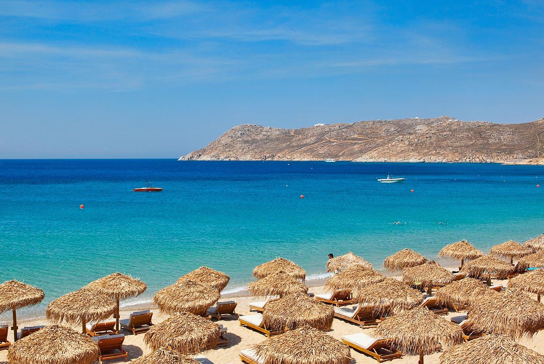 Best Island Beaches For Partying Mykonos St Barts: Kalafatis Beach Mykonos